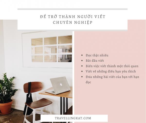 Để trở thành người viết chuyên nghiệp - Travelling Kat