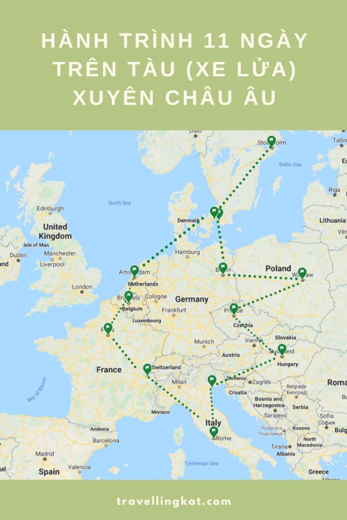 Eurail/ Interrail - Đi tàu xuyên châu Âu